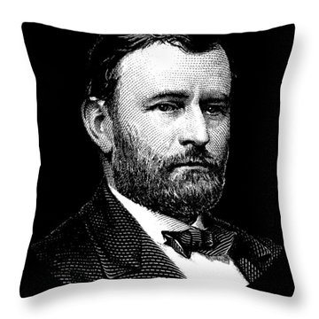 President Ulysses S. Grant Graphic Three Throw Pillow