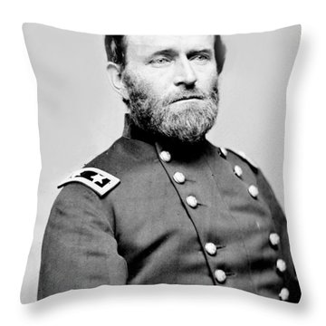 President Ulysses S Grant In Uniform Throw Pillow