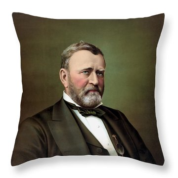 President Ulysses S Grant Portrait Throw Pillow