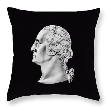 President Washington Bust  Throw Pillow by War Is Hell Store