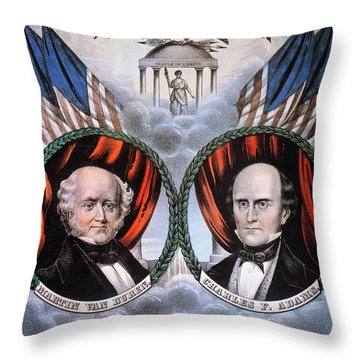 Presidential Campaign, 1848 Throw Pillow by Granger