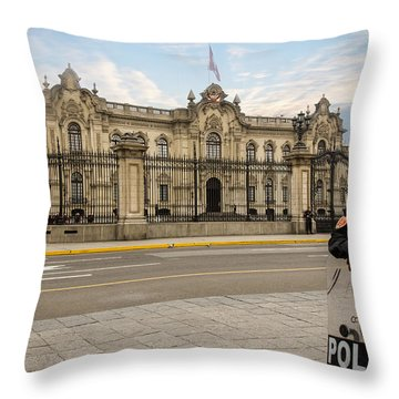 Presidential Palace In Lima Throw Pillow