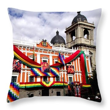 Presidential Palace La Paz, Bolivia Throw Pillow
