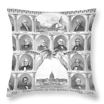 Presidents Of The United States 1776-1876 Throw Pillow