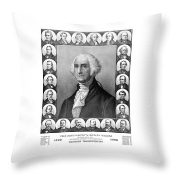 Presidents Of The United States 1789-1889 Throw Pillow by War Is Hell Store