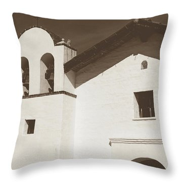 Presidio Chapel- Art By Linda Woods Throw Pillow