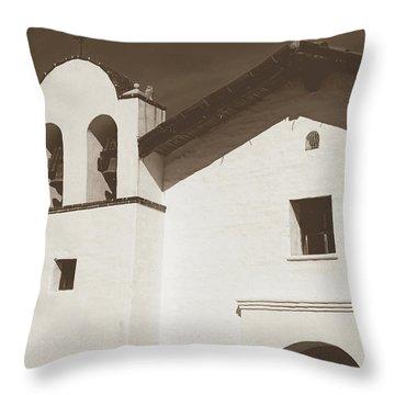 Presidio Chapel- Art By Linda Woods Throw Pillow