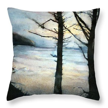Presque Isle Dawn Throw Pillow