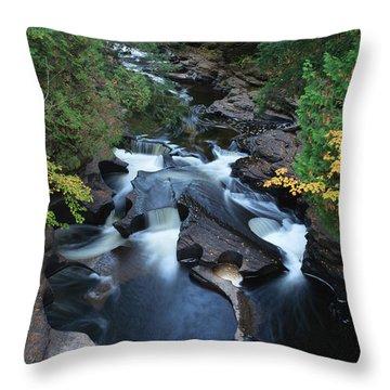 Presque Isle River Throw Pillow