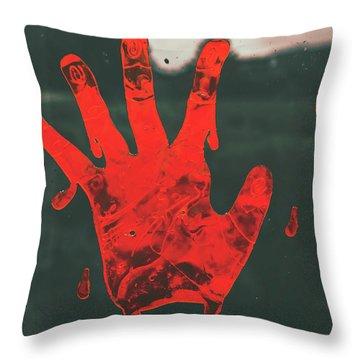 Pressing Terror Throw Pillow