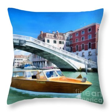 Throw Pillow featuring the photograph Presto Rialto by Jack Torcello