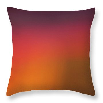 Throw Pillow featuring the photograph Pretend Sunrise by CML Brown