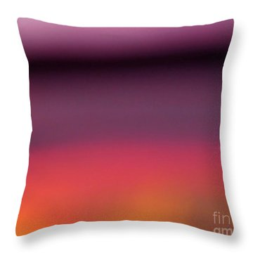Pretend Sunset Throw Pillow by CML Brown