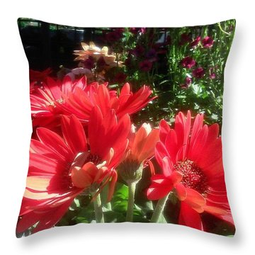 Pretty! ❤ #flowers #nature #orange Throw Pillow