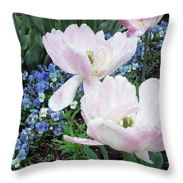 Pretty! ❤ #flowers #pink #kansascity Throw Pillow