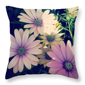 Pretty! 💜 #flowers #purple #yellow Throw Pillow