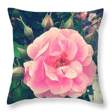 Pretty! ❤ #pink #flower #nature Throw Pillow