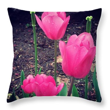 Pretty! ❤ #pink #flowers #flower Throw Pillow