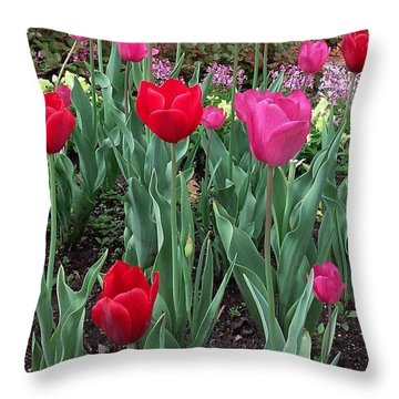 Pretty! ❤ #pink #red #flowers #flower Throw Pillow