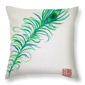 Pretty As A Peacock Throw Pillow