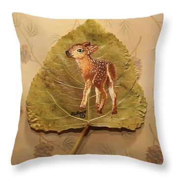 Pretty Baby Deer Throw Pillow
