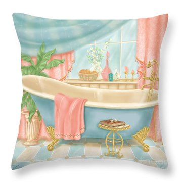 Pretty Bathrooms I Throw Pillow