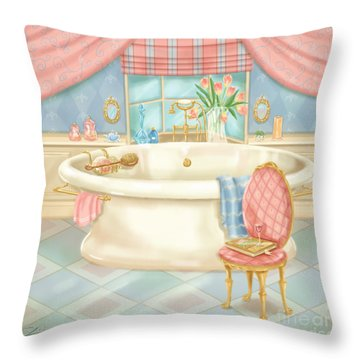 Pretty Bathrooms II Throw Pillow