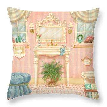Pretty Bathrooms IIi Throw Pillow