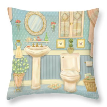 Pretty Bathrooms Iv Throw Pillow
