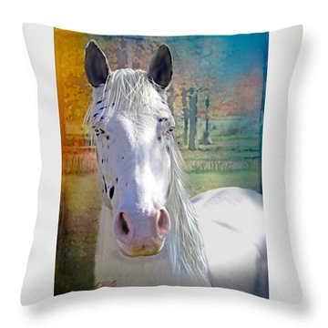 Pretty Eyes Throw Pillow by Bonnie Willis