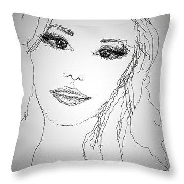 Pretty Eyes Throw Pillow