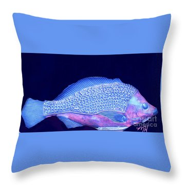 Pretty Fishy Throw Pillow