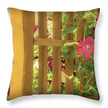 Pretty Flower Garden Throw Pillow