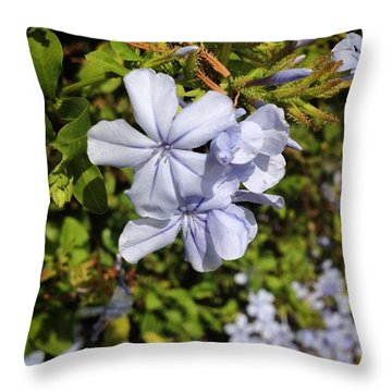 Pretty Flowers Spotted In Gaudi Park Throw Pillow