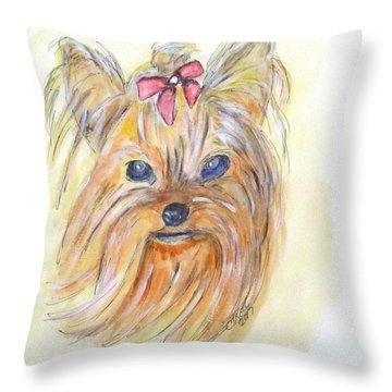 Pretty Girl Throw Pillow