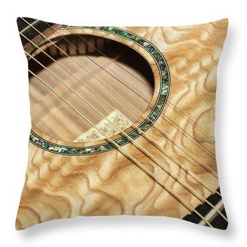 Pretty Guitar - Throw Pillow