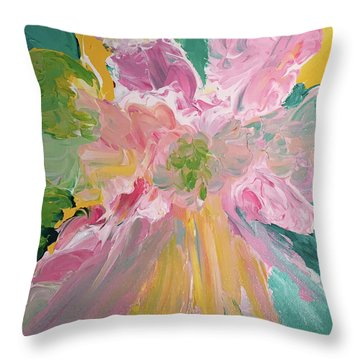 Pretty In Pastels Throw Pillow