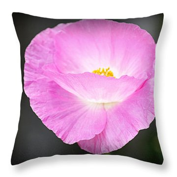 Throw Pillow featuring the photograph Pretty In Pink by AJ Schibig