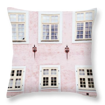 Pretty In Pink- Art By Linda Woods Throw Pillow