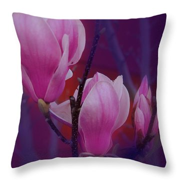 Throw Pillow featuring the photograph Pretty In Pink by Athala Carole Bruckner