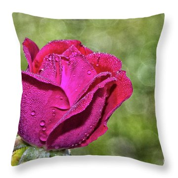 Pretty In Pink Throw Pillow by Laurinda Bowling