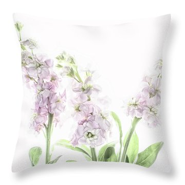 Throw Pillow featuring the photograph Pretty In Pink by Rebecca Cozart