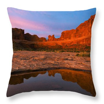 Pretty In Pink Red And Blue Throw Pillow