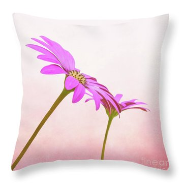 Pretty In Pink Throw Pillow by Roy McPeak