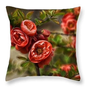 Pretty In Red Throw Pillow by Cameron Wood