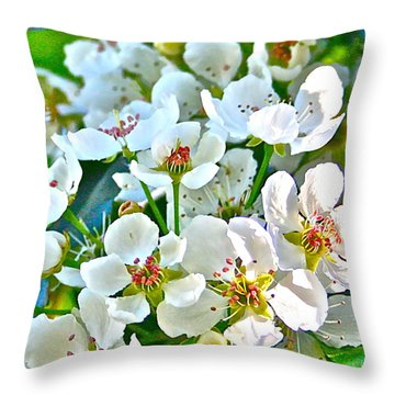 Pretty In White Throw Pillow by Gwyn Newcombe