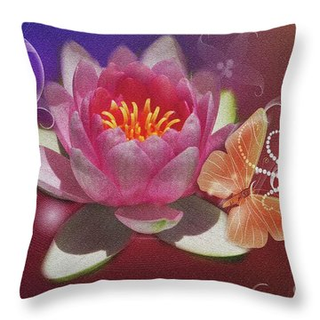 Pretty Items Throw Pillow by Geraldine DeBoer