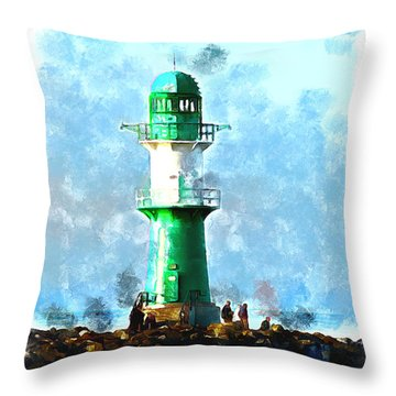 Beautiful Lighthouse  Throw Pillow