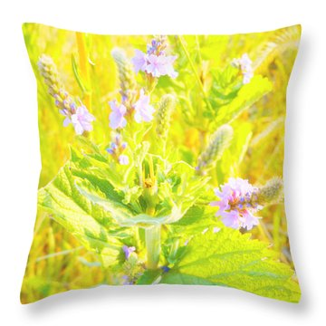 Pretty Lilac Throw Pillow