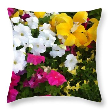 Pretty Little Flowers Throw Pillow